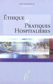Ethique et pratique hospitalieres - Intérieur - Format classique