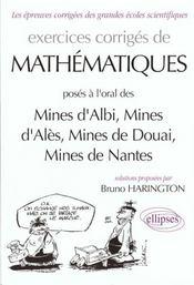Exercices Corriges De Mathematiques Mines Albi Ales Douai Nantes - Intérieur - Format classique