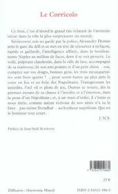 Le Corricolo ; impressions de voyage à Naples - 4ème de couverture - Format classique