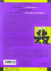 Hombres /Ces Hommes ! Un Lugar Estrategico/Un Endroit Strategique - 4ème de couverture - Format classique