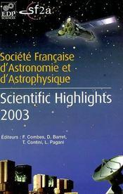 Scientific highlights 2003 sf2a - Intérieur - Format classique