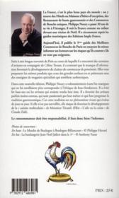 Les meilleurs commerces de bouche de Paris & environs (édition 2011) - 4ème de couverture - Format classique