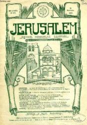 JERUSALEM, 29e ANNEE, N° 179, MAI-JUIN 1934, REVUE MENSUELLE ILLUSTREE - Couverture - Format classique
