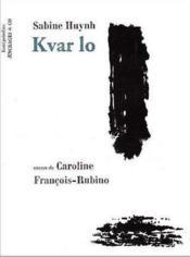 Kvar lo - Couverture - Format classique