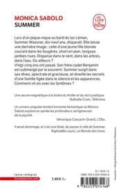 Summer - 4ème de couverture - Format classique