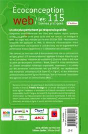 Éco-conception web ; les 115 bonnes pratiques (3e édition) - 4ème de couverture - Format classique
