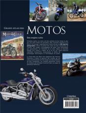 Grand atlas des motos ; histoire, modèles, performances - 4ème de couverture - Format classique