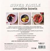 Smoothie bowls - 4ème de couverture - Format classique