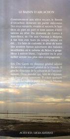 Le bassin d'arcachon - 4ème de couverture - Format classique