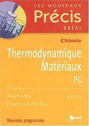 Thermodynamique, matériaux ; PC - Intérieur - Format classique