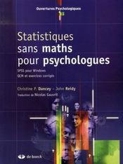 Statistiques sans maths pour psychologues - Intérieur - Format classique