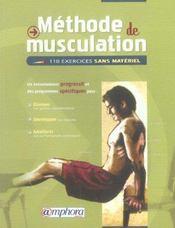 Méthode de musculation, 110 exercices sans matériel - Intérieur - Format classique