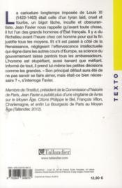 Louis XI - 4ème de couverture - Format classique