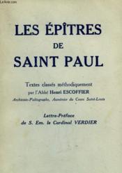 Les Epitres De Saint - Paul. - Couverture - Format classique