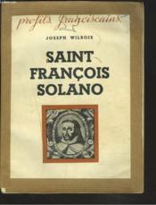 Saint Francois Solano - Couverture - Format classique