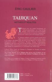 Taijiquan, mythes et realites - 4ème de couverture - Format classique