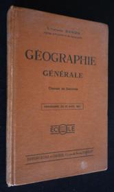 Géographie générale - Couverture - Format classique