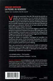La pierre du remords - 4ème de couverture - Format classique