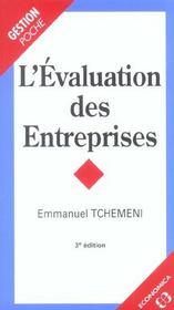 L'evaluation des entreprises - Intérieur - Format classique