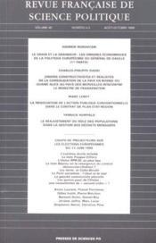 Revue Francaise De Science Politique N.49 ; T.4 Et T.5 - Couverture - Format classique