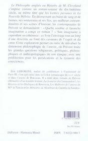 Figures de l'imaginaire dans le cleveland de prévost - 4ème de couverture - Format classique