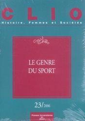 Genre Du Sport. Revue Clio N 23 - Intérieur - Format classique