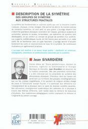 Description de la symetrie - 4ème de couverture - Format classique