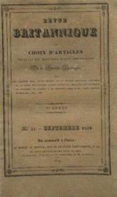 Revue britannique ou choix d'articles, traduits des meilleurs écrits périodiques de la grande bretagne Ve année, n°51 septembre 1829 - Couverture - Format classique