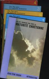 Lot De 5 Brochures : Les Dix Pas Vers La Maturite Chretienne. Introduction / 1. L'Aventure Chretienne / 2. Le Chretien Et La Vie Abondante / 3. Le Chretien Et Le Saint-Esprit / 4. Le Chretien Et La Priere. - Couverture - Format classique