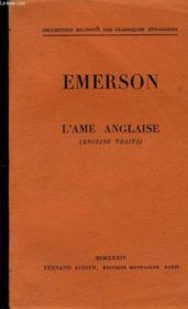 Emerson L'Ame Anglaise - Couverture - Format classique