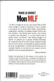 Mon mlf - 4ème de couverture - Format classique