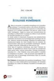 Pour une écologie numérique - 4ème de couverture - Format classique