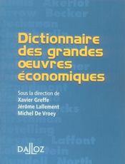 Dictionnaire des grandes oeuvres économiques - Intérieur - Format classique