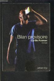 Bilan provisoire - Couverture - Format classique