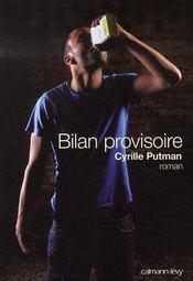 Bilan provisoire - Intérieur - Format classique