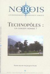 REVUE NOROIS ; technopôles : un concept dépassé ? - Intérieur - Format classique