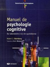 Manuel de psychologie cognitive du laboratoire à la vie quotidienne - Intérieur - Format classique