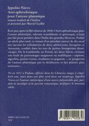 Anti-Aphrodisiaque Pour L'Amour - 4ème de couverture - Format classique