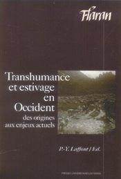Transhumance Et Estivage En Occident. De La Prehistoire A Nos Jours - Intérieur - Format classique