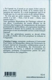 Expressions familieres du languedoc et des cevennes - 4ème de couverture - Format classique