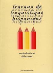 Travaux linguistique hispanique. - Couverture - Format classique