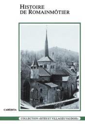 Histoire De Romainmotier - Couverture - Format classique