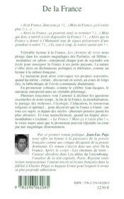 De la France ; les chemins de terre - 4ème de couverture - Format classique
