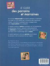 Le guide des parrains et marraines - 4ème de couverture - Format classique