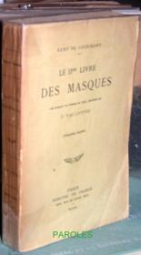 Le IIe livre des masques. - Couverture - Format classique