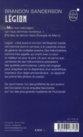 Légion - 4ème de couverture - Format classique