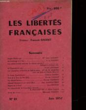 Les Libertes Francaises - N°21 - Couverture - Format classique
