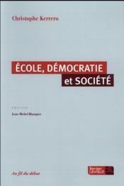 École et démocratie - Couverture - Format classique