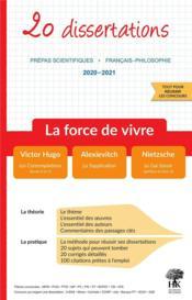20 dissertations de francais sur le thème 2020-2021 en prépa scientifique (édition 2020/2021) - Couverture - Format classique