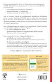 20 dissertations de francais sur le thème 2020-2021 en prépa scientifique (édition 2020/2021) - 4ème de couverture - Format classique